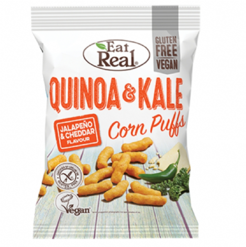 Eat Real Quinoa & Kale Jalapeno & Cheddar Puffs 113g